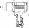 """АКЦИЯ! (AIW1268 Гайковерт пневматический  1/2""""DR 7500 об/мин,  680 Nm"""